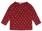 Hust & Claire Langarmshirt Sweat  maroon