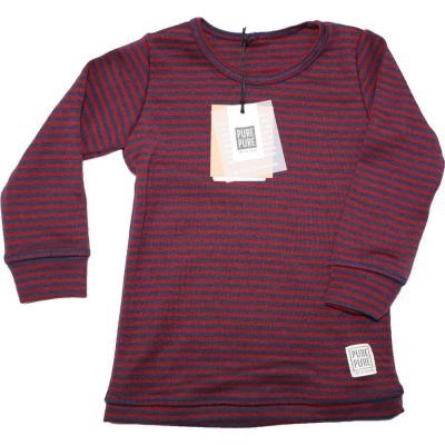 Pure Pure Langarmshirt merino blue red 110/116