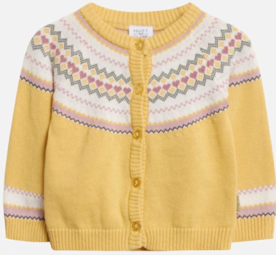 Hust & Claire Baby Strickjacke Cardigan Charme sonnengelb 62