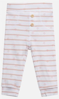 Hust & Claire Baby Hose Lolli Legging rosa weiß 68