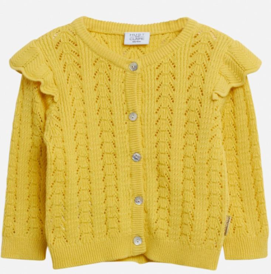 Hust & Claire Baby Strickjacke Cardigan Caris gelb 80