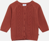 Hust & Claire Baby Cardigan Cammie rusty rostrot