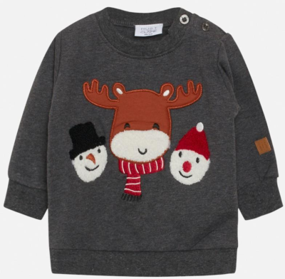 Hust & Claire Baby Pullover Sofus grau 86