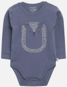 Hust & Claire Baby Body Bebe mit Igelgesicht blue storme