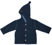 Maximo Baby-Jacke Wolle GOTS organic navy meliert
