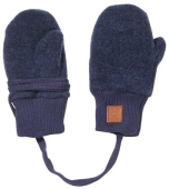 Maximo Thermo-Fausthandschuhe Wollfleece navy meliert