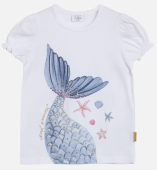 Hust & Claire Mini T-Shirt Ayla mit Flosse mermaid